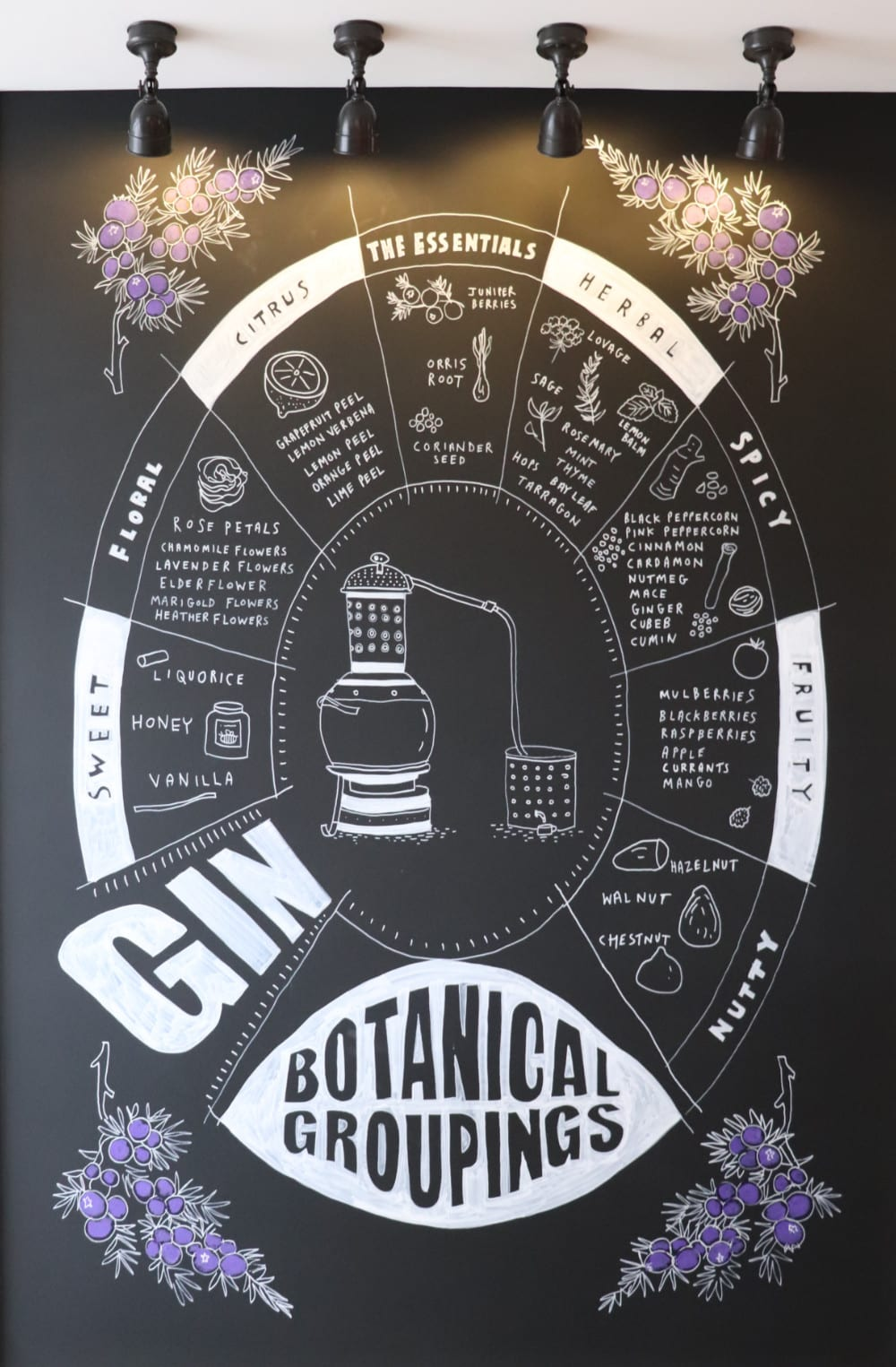 Shakespeare Distillery tour - Gin Botanicals
