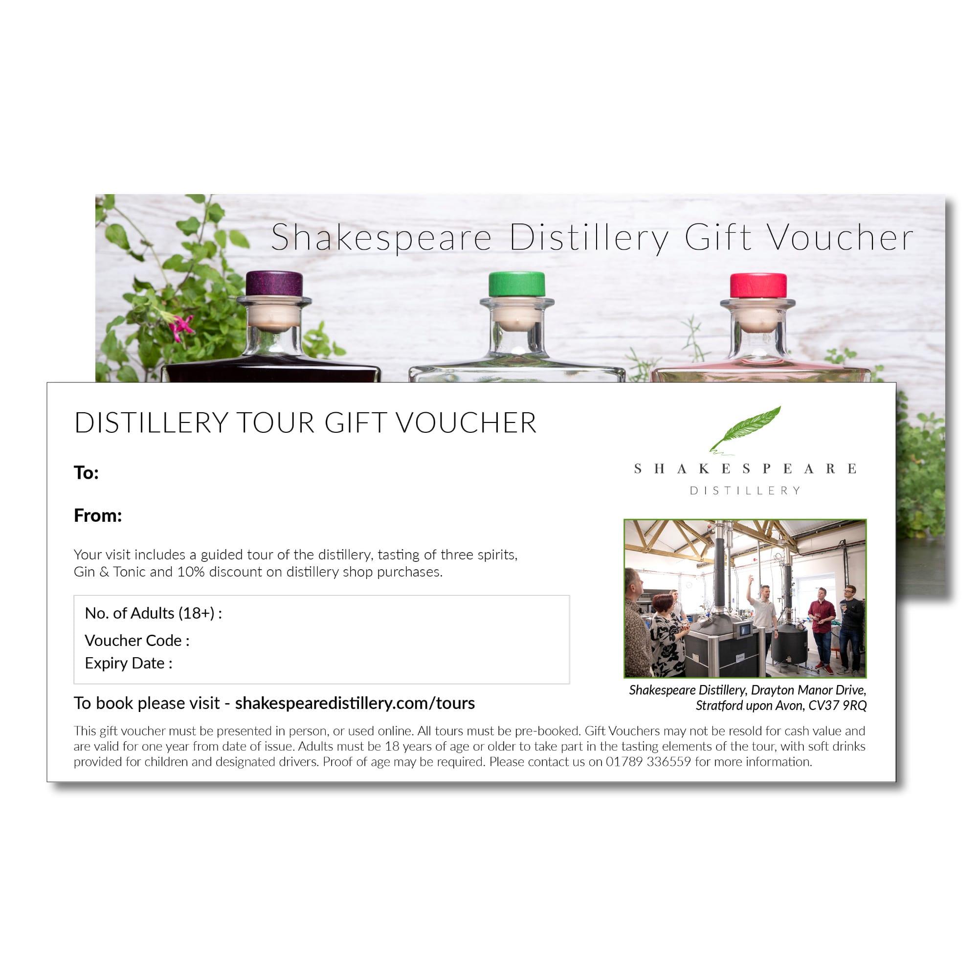 Distillery Tour Gift Voucher