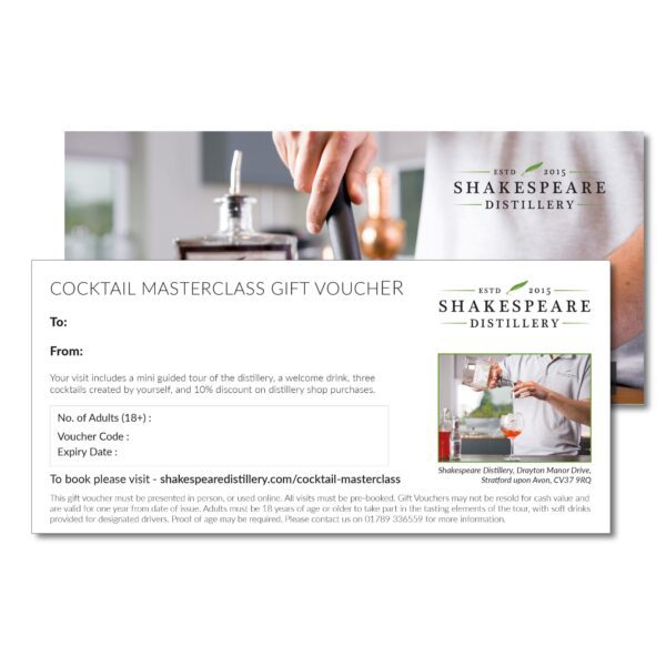 Cocktail Masterclass Gift Voucher
