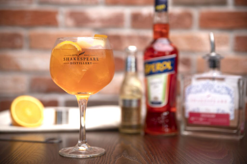 Rhubarb Aperol Spritz Cocktail