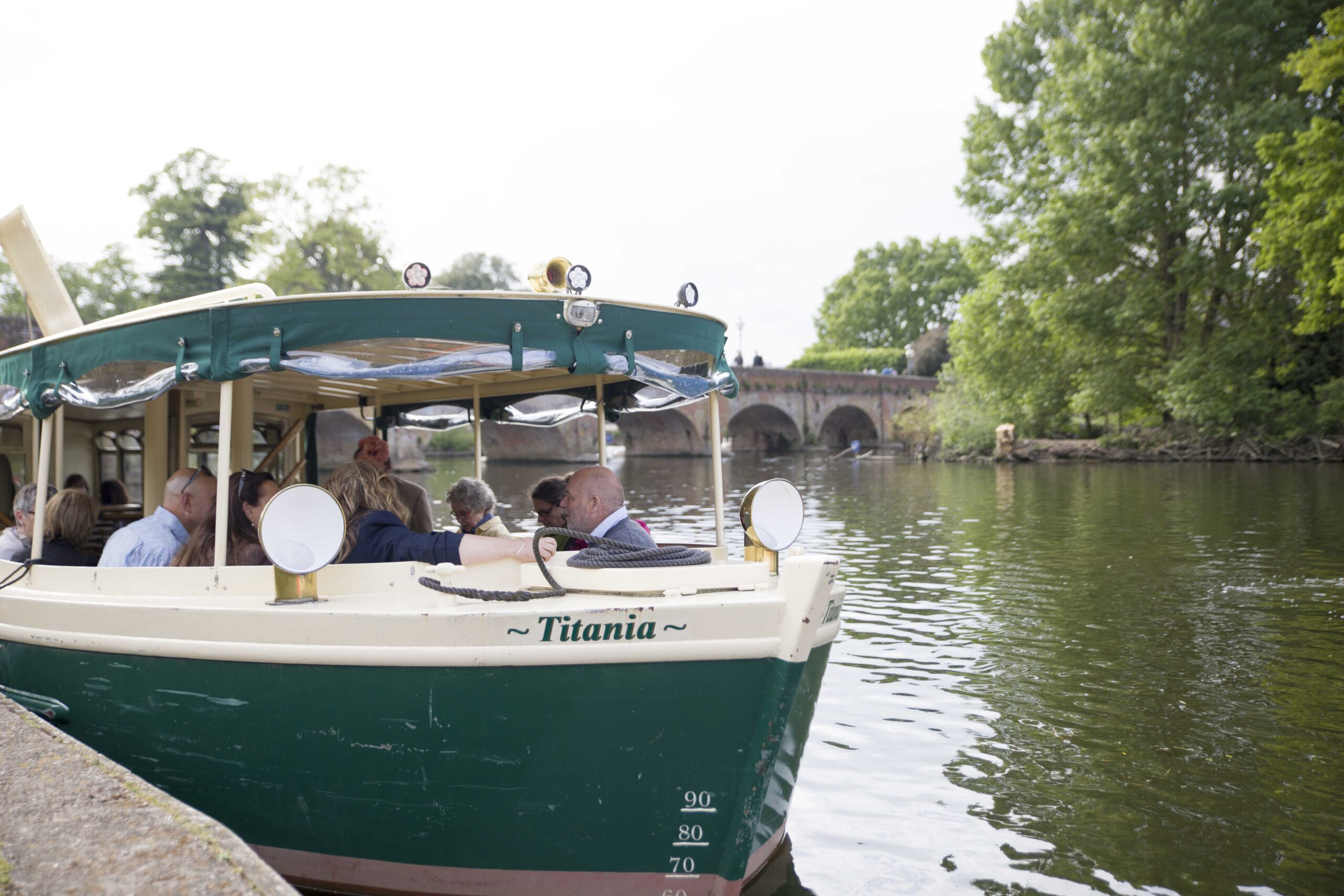 photo of side of the Titania river boat on cruise